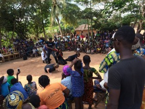 ministry in village in Benin with GAiN Life team